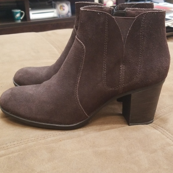 Clarks Shoes   Clarks Brown Suede Ankle
